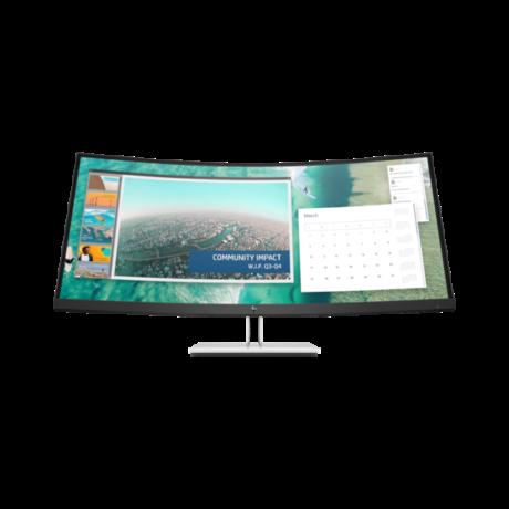 """HP LED Monitor 34"""" EliteDisplay E344c Curved AG, 3440x1440, 21:9, 3000:1, 400cd, 4ms, DisplayPort, HDMI, fekete"""