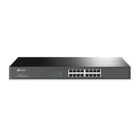 TP-LINK Switch 16x1000Mbps Fémházas Rackes, TL-SG1016