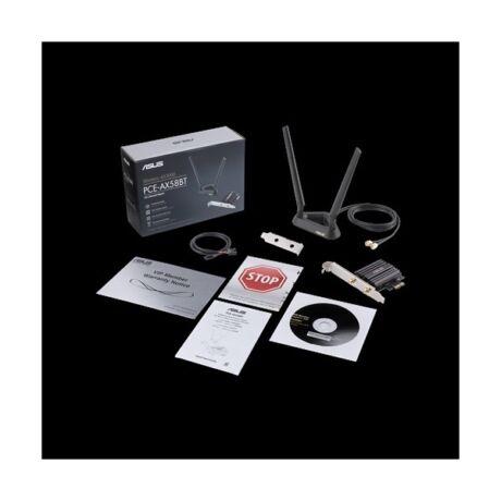 ASUS AX3000 Dual Band PCI-E WiFi 6 (802.11ax) Adapter, 2 external antennas, Bluetooth 5.0