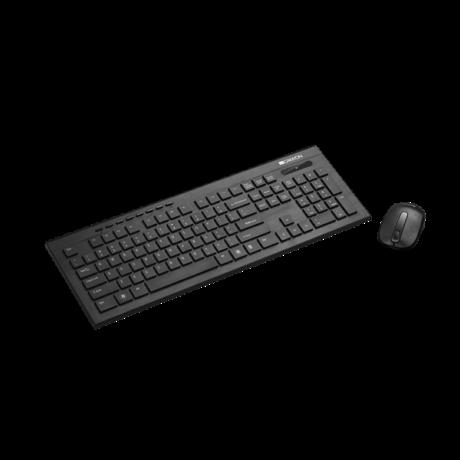 CANYON Vezeték Nélküli Billentyűzet + egér USB, Multimédia, Fekete