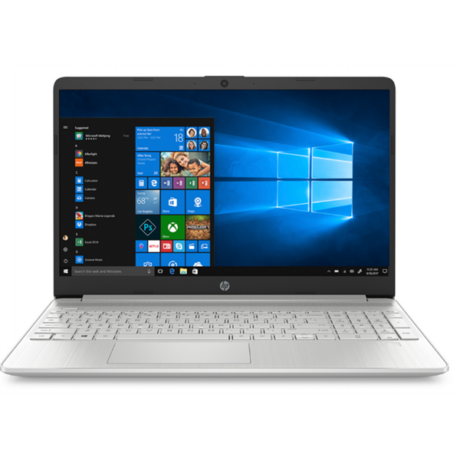 "HP 15s-fq1033nh, 15.6"" FHD AG, Core i3-1005G1, 4GB, 512GB SSD, Win 10, ezüst"
